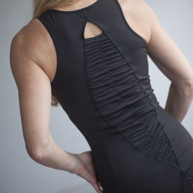 Exciting back along Your Spine STYLE: Erica top colour black