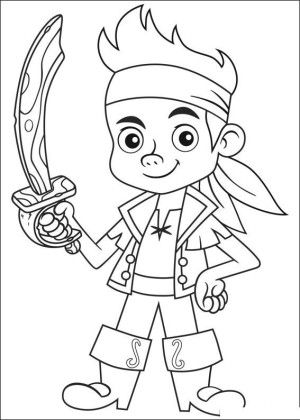 Jake and pirates coloring page 8