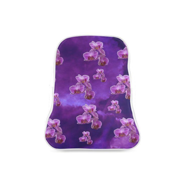 Purple Orchids School Backpack. FREE Shipping. #artsadd #lbackpacks #flowers
