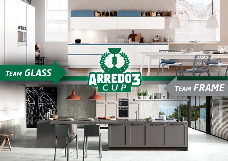 Oggi davvero una sfida difficile tra 2 modelli amatissimi dai nostri clienti: lascia un commento a favore della tua cucina preferita! GLASS o FRAME? #Arredo3Cup http://www.arredo3.it/cucine-moderne/