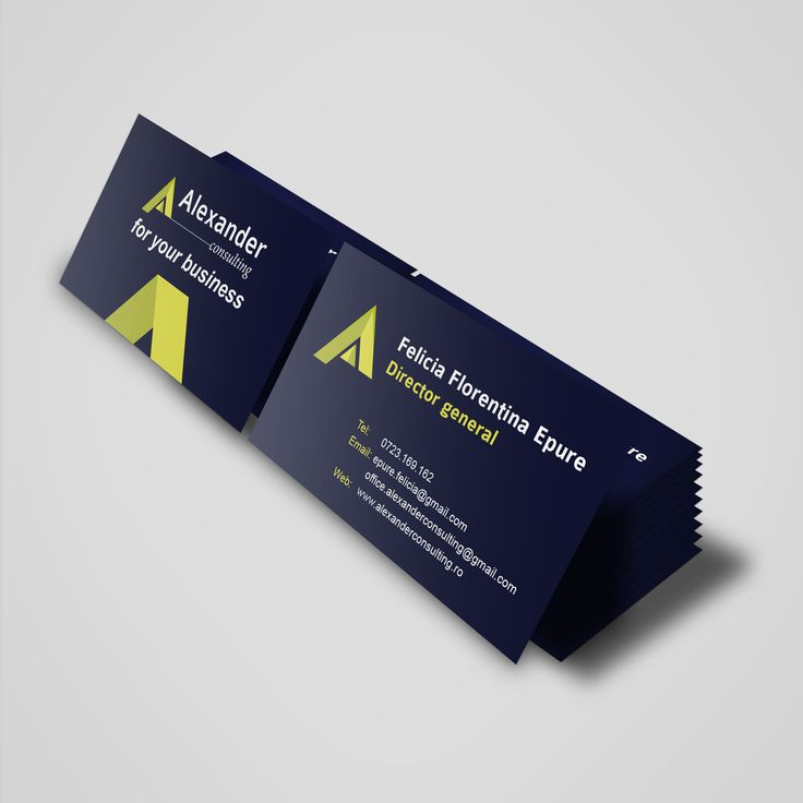 Business cards - Alexander Consulting