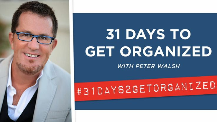 Every day for the next 31 days, organizational whiz Peter Walsh will be posting a brand-new video containing a 10-minute challenge to help you get organized in the new year. Try it!