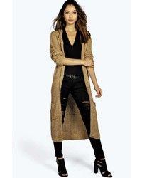 Manteau en tricot brun clair Boohoo