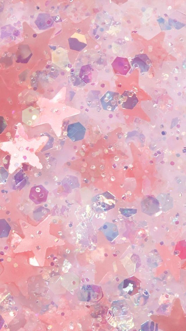 Glitter Rave Pink Glitter Wallpaper