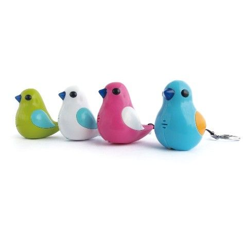 置き忘れたら、さえずってくれるなんて。【鍵探しキーホルダー】BIRDY Key Finder(ホワイト) / ヴィレヴァン通販
