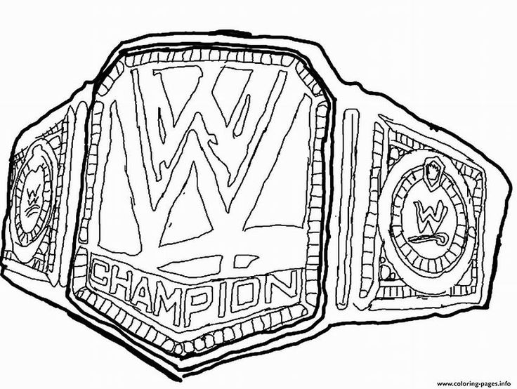 Image result for WWE Belts Coloring Pages Printable