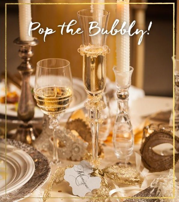Wishing a joyous New Year, rung in amidst a sparkling table filled with your nearest and dearest friends and family.