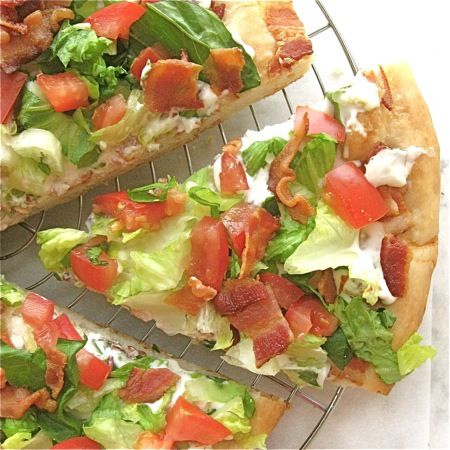 BLT pizza... bet this would be fantastic on one of those days when you don't want to do too much cooking!