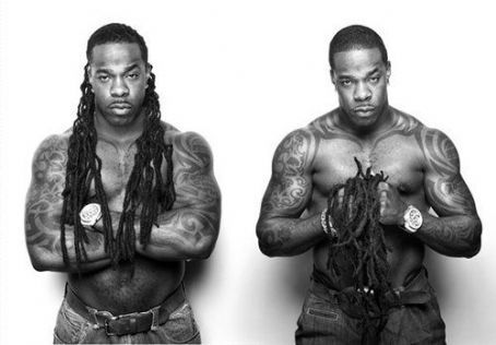 Busta Rhymes with & without his locks and lookin good no matter what he rocks