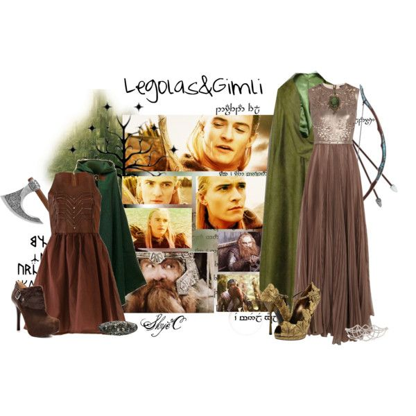"""Legolas and Gimli Medieval Outfits"" by rubytyra on Polyvore"