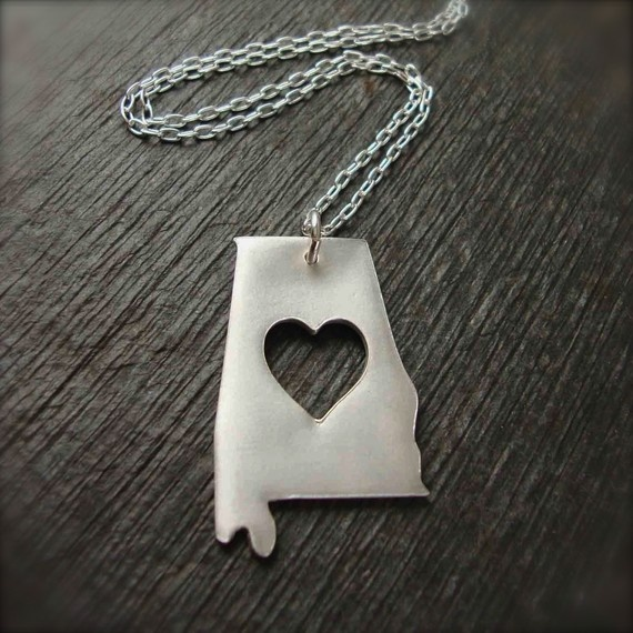 heart of dixie necklace $55