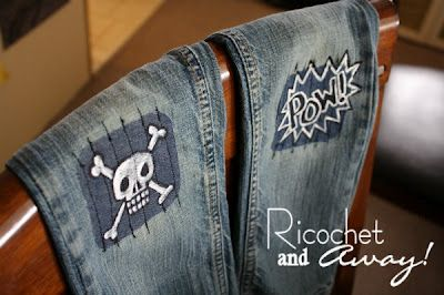 Awesome jean patches for little boys!
