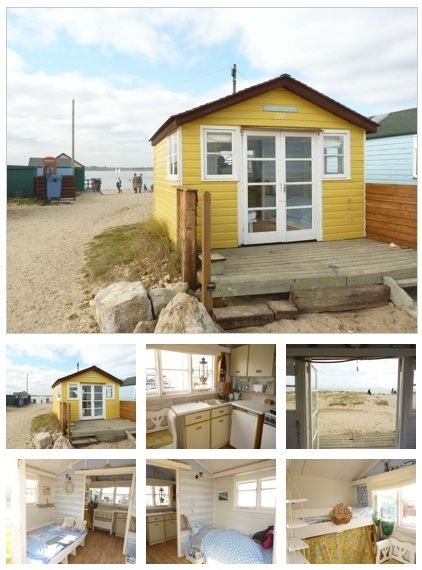 Tiny UK Beach hut for sale (probably not any more--dated 2012!) But a cute and tiny home, via Relaxshacks.com