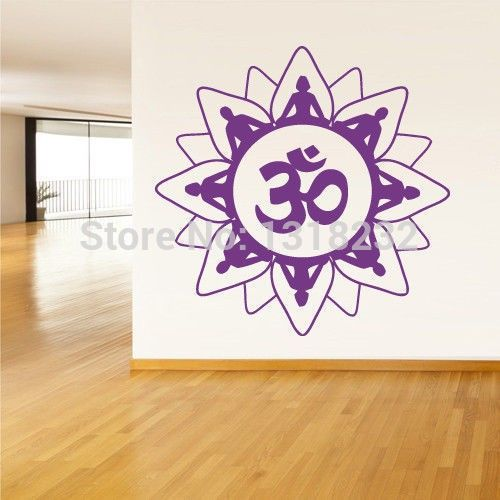 Religion Vinyl Wall Decal Buddha India Indian Om Ganesh God  Wall Sticker Yoga Room Wall Sticker Home Decoration $23