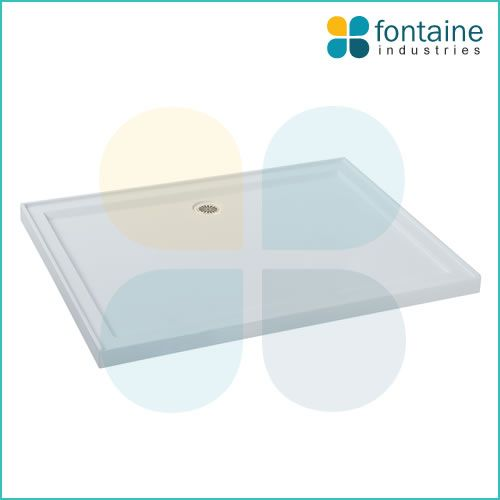 $179.00 Goudy Shower Base 1200mm | Fontaine Industries - POLYMARBLE