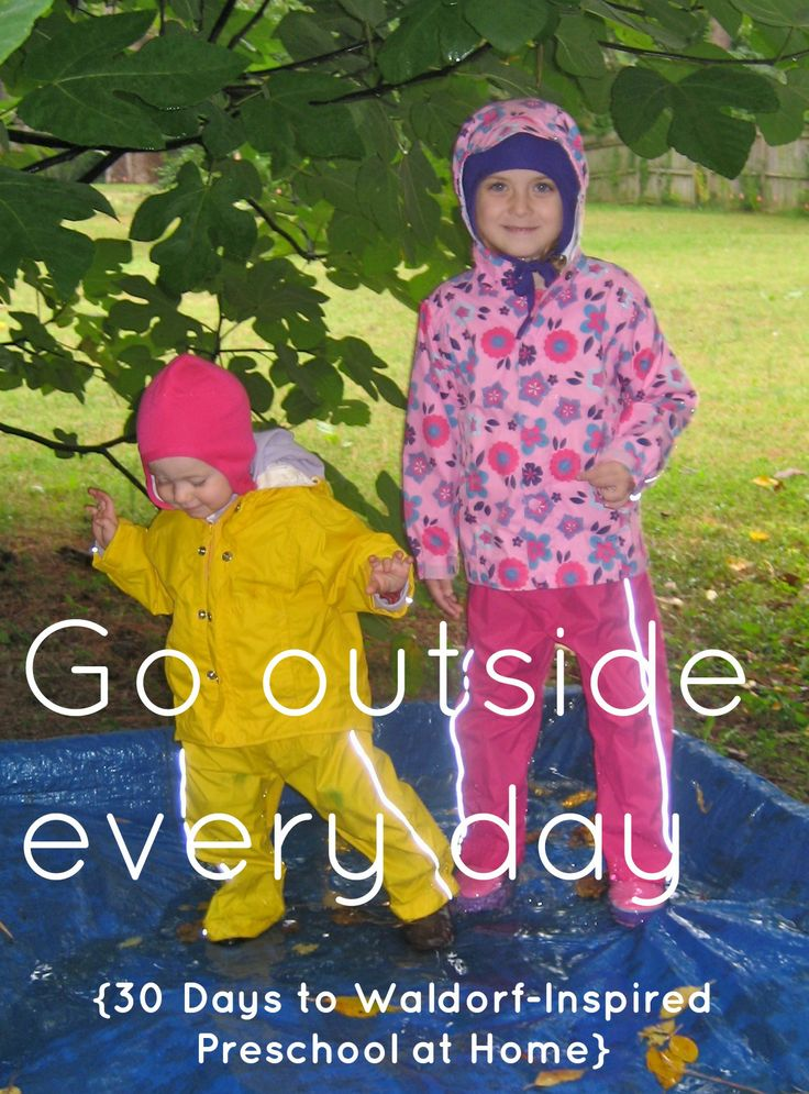 Go outside every day from Lavender's Blue Homeschool  {Day 6 of 30 Days to Waldorf-Inspired Preschool at Home}
