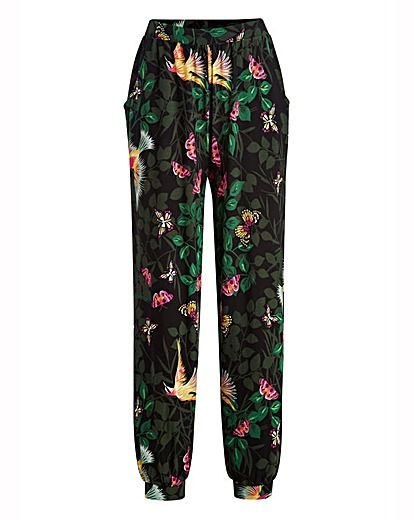 Butterfly Print Jersey Joggers