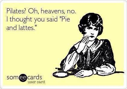 Pie and lattes.