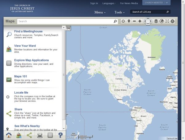 A new version of LDS Maps is available. Version 3.0 of LDS Maps includes a host of new features that improve your experience in finding meetinghouses, members in your stake, and a variety of Church locations.