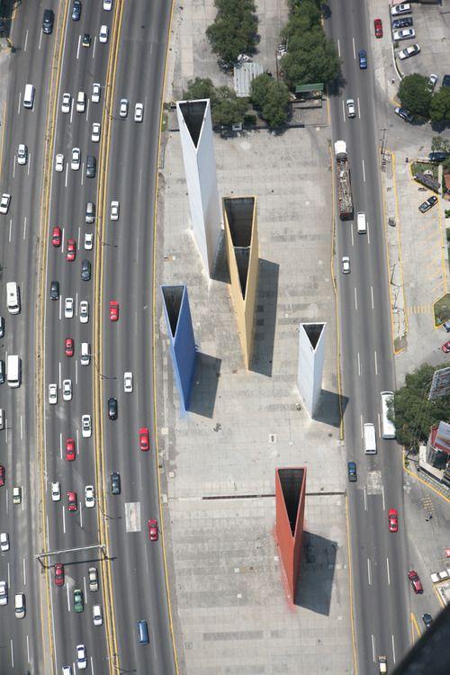 luisbarragan: Modern aerial view of the Satelin Torres