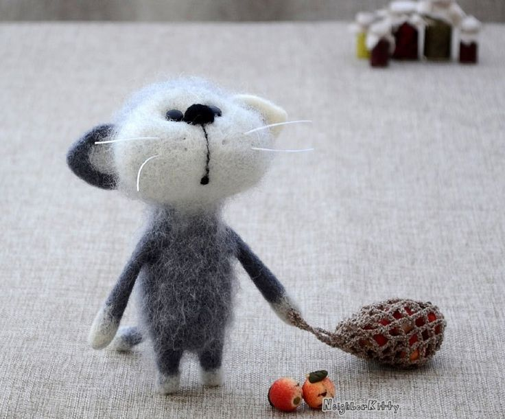 Needle Felted Mice, Cats and Whimsey
