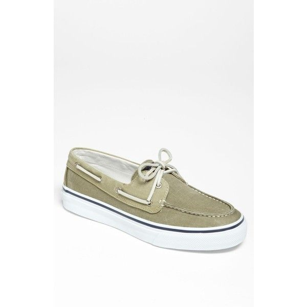 Men's Sperry Top-Sider 'Bahama' Boat Shoe (635 HNL) ❤ liked on Polyvore featuring men's fashion, men's shoes, men's loafers, sperry top sider mens shoes, mens sperry topsiders, mens boat shoes, mens shoes and mens deck shoes