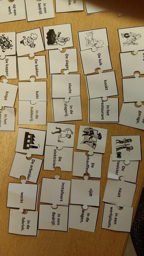 Beroepenpuzzel: woordenschat herhalen