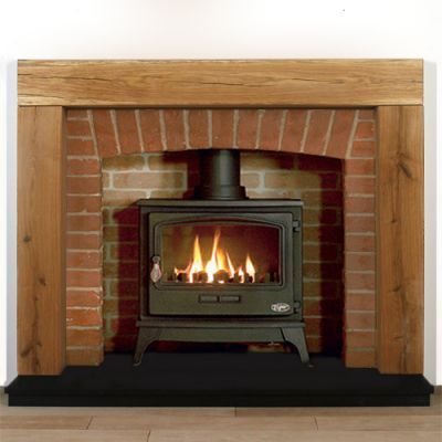 Chester Rustic Oak Beam Fireplace