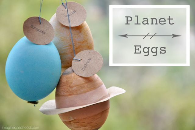 DIY Dyed Planet Eggs -- perfect for Easter AND Earth Day ...
