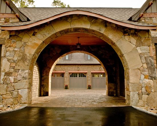53 best exteriors porte cochere images on pinterest for Drive through garage door