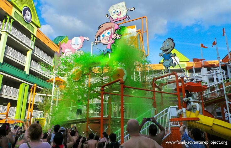 Surviving the sliming at the Nick Hotel Orlando what a blast this would be