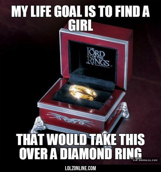 Lord of the rings quotes the one ring