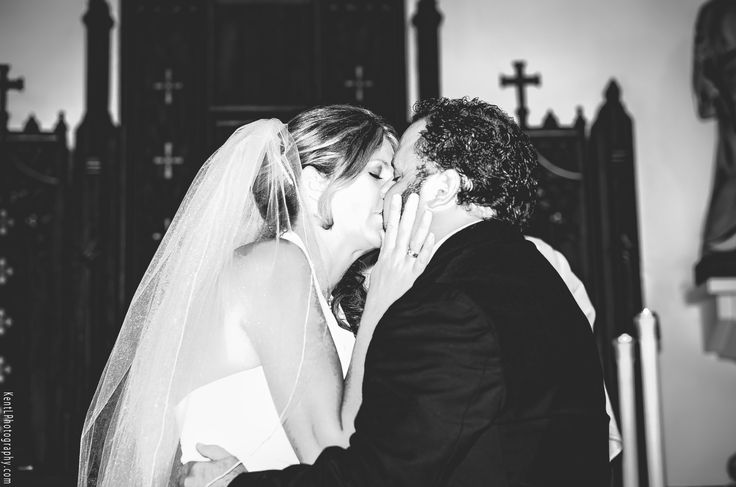 The Bride and Grooms first kiss Married!   Wedding Photographer Kent Leckie
