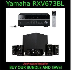 Yamaha RX-V673 A/V Receiver - 7.1 Channel - Black With Klipsch HD Theater 600 by Yamaha. $789.00. The latest technologies together with Yamaha originality. The latest technologies include 4K Pass-Through compatible HDMI, upscaling to 4K resolution and AirPlay compatibility. YPAO Reflected Sound Control (R.S.C.), Dialogue Lift and Dialogue Level Adjustment for perfectly clear dialogue and vocals, and ECO mode show Yamaha originality. With PREMIUM 5.1 SYSTEM FOR M...