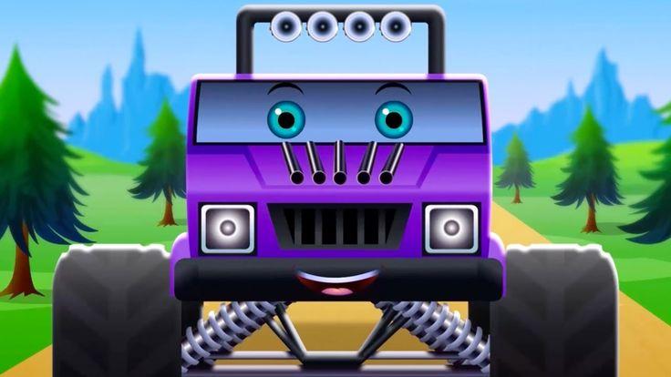 Monster Truck   Vehicle For Children   Car Nursery Rhymes For Kids