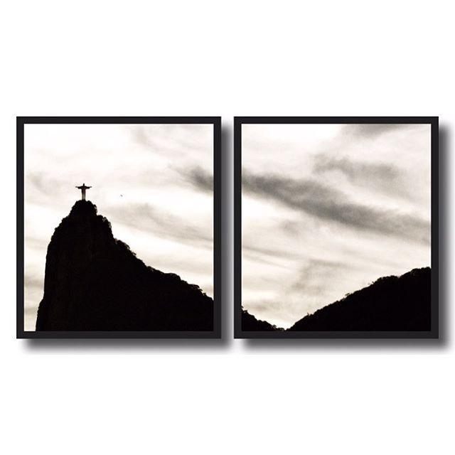 """Mais um quadro saindo do forno, dessa vez para um grande amigo! O escolhido dessa vez foi o quadro duplo do Cristo, um """"díptico"""" para fugir dos clichês de quadros do Rio!"""