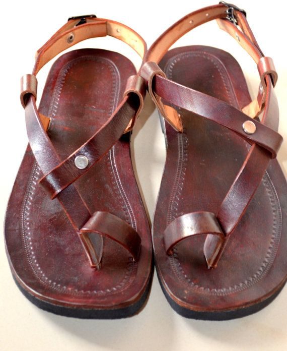 Simple Gladiator Style Leather Sandals-Handmade Sandals , Indian Leather Sandals, Ladies, Mens, Custom made - ALL SIZES on Etsy, $60.00