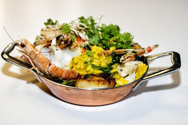 Risotto - min livret, seafood også min livret - så sammen er det bestemt min livret :-)