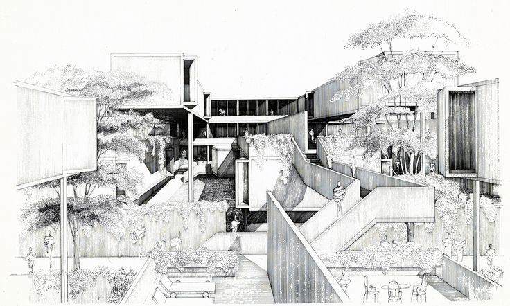 paul rudolph architectural drawings - Google Search