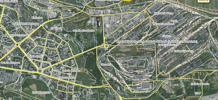 Nowa Huta mapa