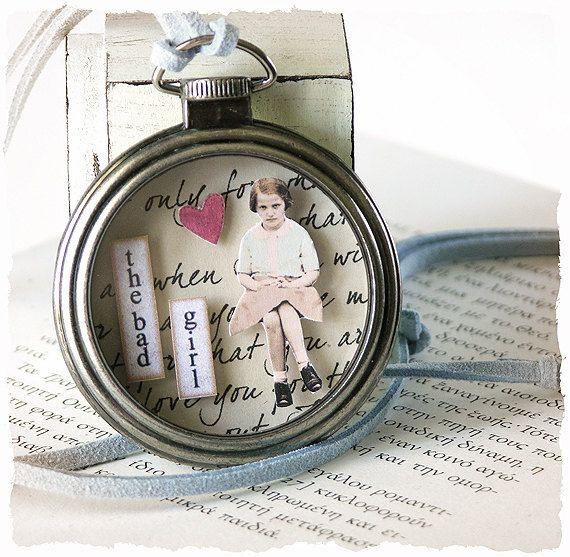 Pocket Watch PENDANTSteampunk pocket watch by KalliasWonderland available on Etsy. Love altered jewelry.