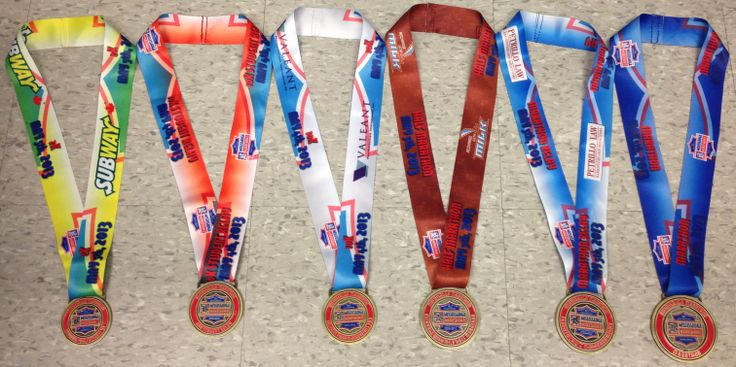 Flashback to last May; who remembers our finishers' medals from 2013?! Each race has their own specific design.
