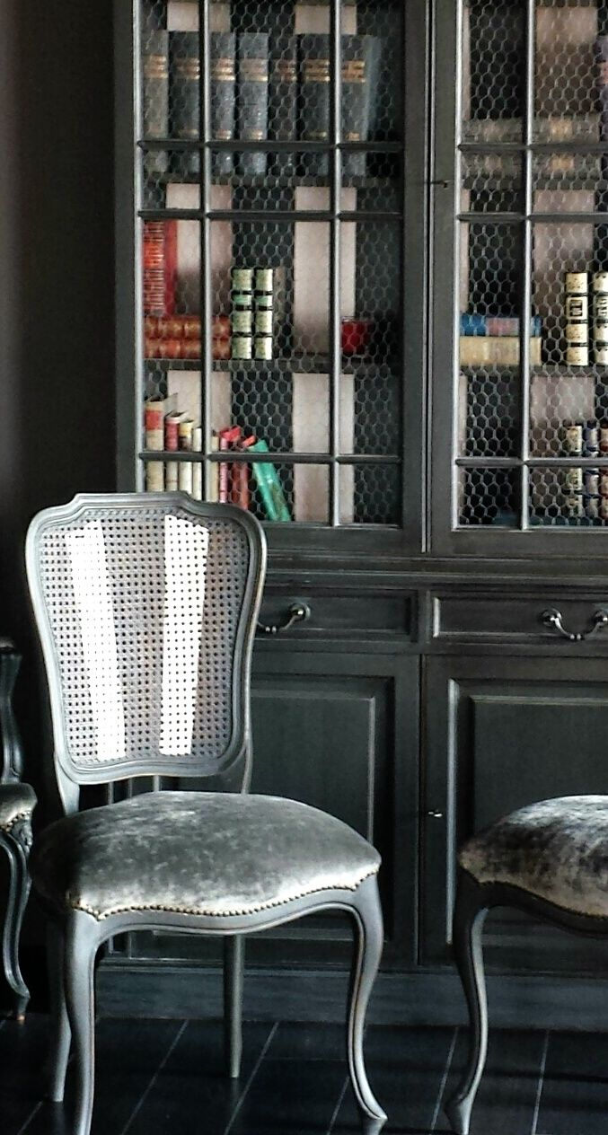 Juego sillas decapadas en gris estilo provenzal a juego - Sillas estilo provenzal ...