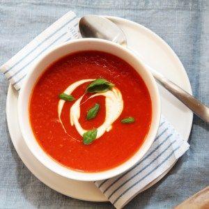 Tomat- og gulrotsuppe med appelsin og chili