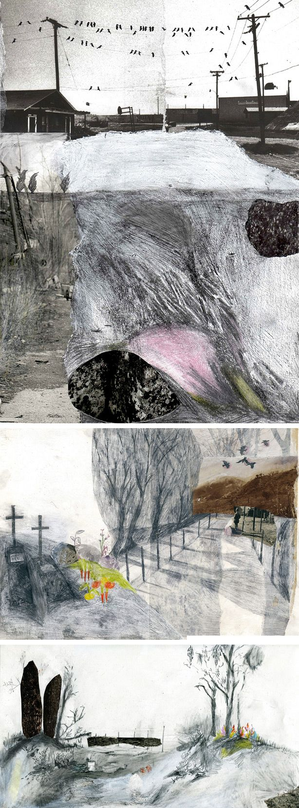 how to make a collage drawing