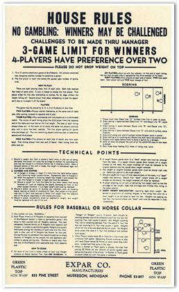 Old Time Rules Table Shuffleboard Poster