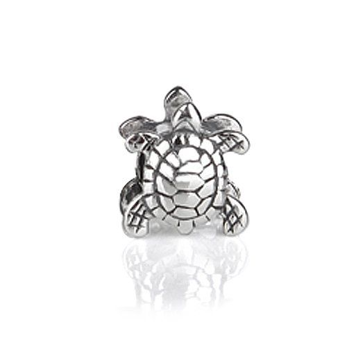 Silver Sea Turtle Nautical Animal Bead is the perfect addition to any ocean, sea, or beach themed Pandora bracelet or necklace. This two sided sea turtle bead is crafted in .925 Sterling Silver. With a wide range of available patterns such as heart beads, charm beads, kids beads, enamel beads, animal beads, spacer beads, sports beads, star beads, crystal beads...