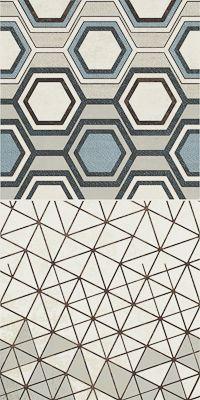Trzy różne wzory insert pozwalają na dużą swobodę przy projektowaniu wnętrz i tworzeniu własnych kompozycji, można z nich układać pionowe pasy przypominające tapety, lub szerokie poziome patchworki.