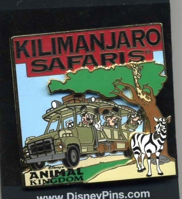 Disney Pin Animal Kingdom Kilimanjaro Safaris Jeep Mickey Minnie