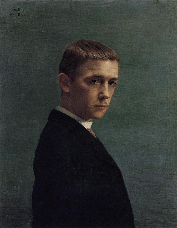 Self portrait at 20,Felix Vallotton